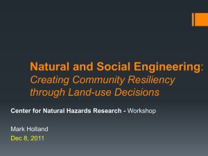Natural and Social Engineering Creating Community Resiliency through Land-use Decisions