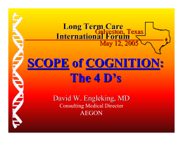 SCOPE of COGNITION :