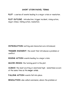 SHORT STORY/NOVEL TERMS PLOT PLOT OUTLINE INTRODUCTION