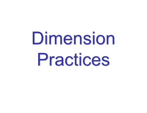 Dimension Practices