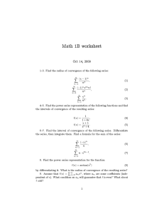 Math 1B worksheet Oct 14, 2009