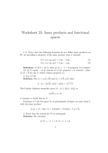 Worksheet 23: Inner products and functional spaces