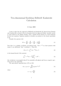 Two-dimensional Euclidean Helliwell–Konkowski Calculation 15 June 2008