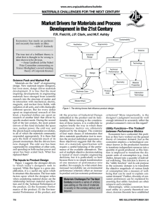 Market Drivers for Materials and Process Development in the 21st Century