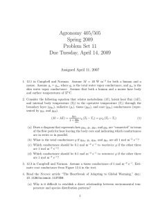 Agronomy 405/505 Spring 2009 Problem Set 11 Due Tuesday, April 14, 2009