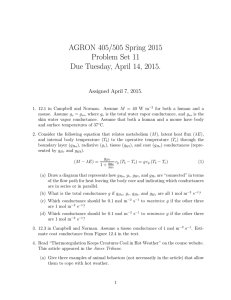 AGRON 405/505 Spring 2015 Problem Set 11 Due Tuesday, April 14, 2015.