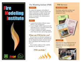 FMI Services: Fire Modeling Institute (FMI)