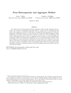 Firm Heterogeneity and Aggregate Welfare