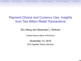 Payment Choice and Currency Use: Insights from Two Billion Retail Transactions