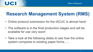 Research Management System (RMS)