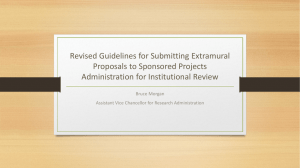 Revised Guidelines for Submitting Extramural Proposals to Sponsored Projects