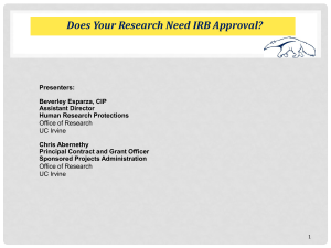 Does Your Research Need IRB Approval?