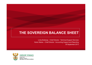 THE SOVEREIGN BALANCE SHEET