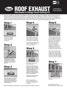 ROOF EXHAUST Microwave & Range Hood Venting Kit Installation Instructions