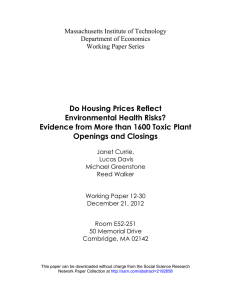 Do Housing Prices Reflect Environmental Health Risks? Openings and Closings