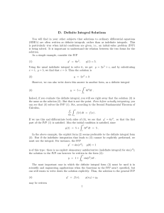 D. Definite Integral Solutions