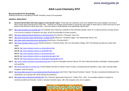 www studyguide pk AS A Level Chemistry      studylib net