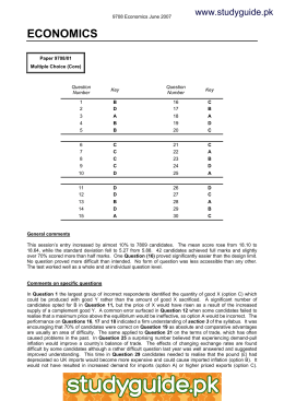 MARK SCHEME for the May/June 2006 question paper 7115 BUSINESS STUDIES