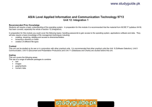 www.studyguide.pk AS/A Level Applied Information and Communication Technology 9713