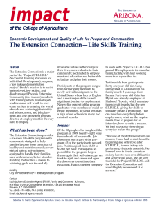 impact of the College of Agriculture Issue