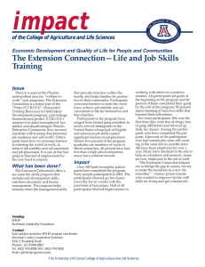 impact The Extension Connection—Life and Job Skills Training