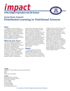 impact Distributed Learning in Nutritional Sciences Society-Ready Graduates
