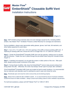 EmberShield Closeable Soffit Vent Installation Instructions