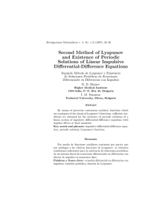 Second Method of Lyapunov and Existence of Periodic Solutions of Linear Impulsive