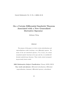 On a Certain Differential Sandwich Theorem Associated with a New Generalized