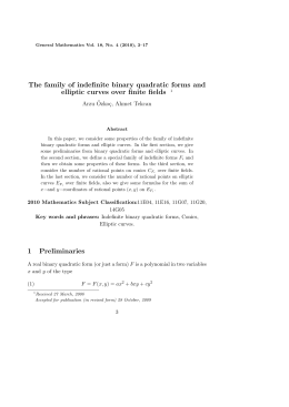 The family of indefinite binary quadratic forms and Arzu ¨