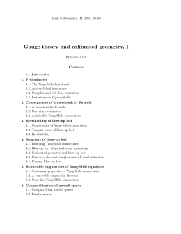 Gauge theory and calibrated geometry, I