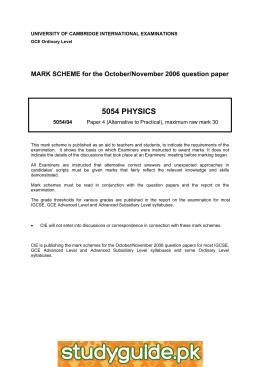 T totals coursework mark scheme 5054/04