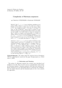 Complexity of Hartman sequences