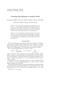 Counting discriminants of number fields