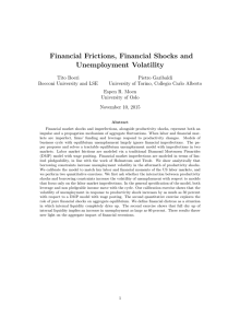 Financial Frictions, Financial Shocks and Unemployment Volatility