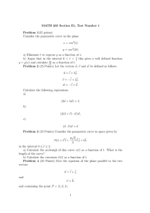 MATH 265 Section E1, Test Number 1 Problem 1(25 points)