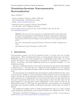 Translation-Invariant Noncommutative n ?