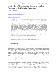 Integration of Cocycles and Lefschetz Number Formulae for Dif ferential Operators