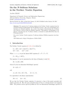 On the N -Solitons Solutions in the Novikov–Veselov Equation