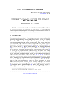 HOMOTOPY ANALYSIS METHOD FOR SOLVING KDV EQUATIONS