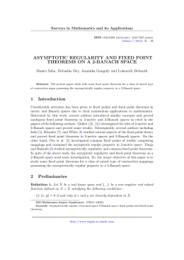 ASYMPTOTIC REGULARITY AND FIXED POINT THEOREMS ON A 2-BANACH SPACE