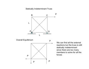 Statically Indeterminant Truss P B C