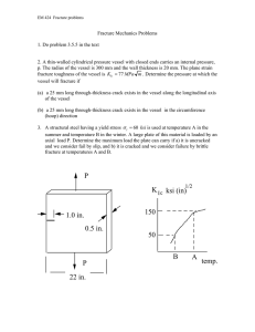 Fracture Mechanics Problems 1. Do problem 3.5.5 in the text