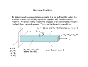 Boundary Conditions equilibrium and compatibility equations together with the stress-strain