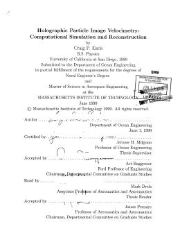Holographic  Particle  Image  Velocimetry: Craig  P. Earls