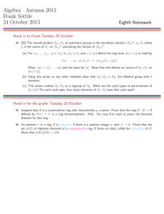 Algebra Autumn 2013 Frank Sottile 24 October 2013 Eighth Homework