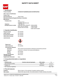 SAFETY DATA SHEET 1. Identification