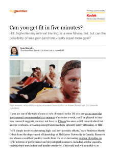 Can you get fit in five minutes?