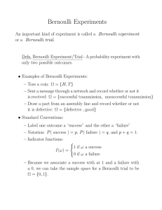 Bernoulli Experiments