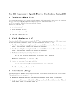 Stat 330 Homework 5: Specific Discrete Distributions Spring 2009 1